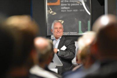 Rinse Reeling Brouwer sprak tijdens de bijeenkomst over de Duitse en Nederlandse vrijzinnigheid.