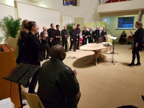 Het Vocaal Theologen Ensemble (VTE) zette de Dies muzikale luister bij.